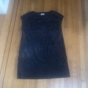 Wilfred dark grey suede dress
